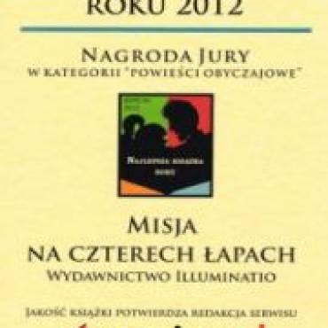 """""""Misja na czterech łapach """" najlepszą książką roku 2012 według serwisu Granice.pl"""