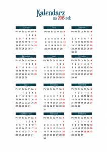 kalendarz na 2015