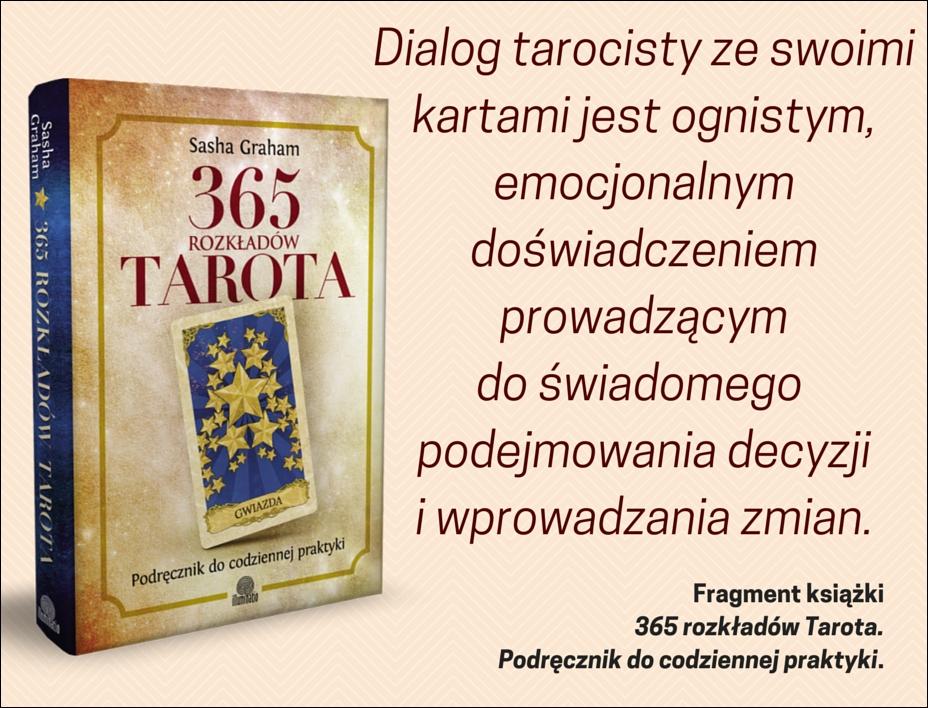 Dialog tarocisty ze swoimi kartami jest