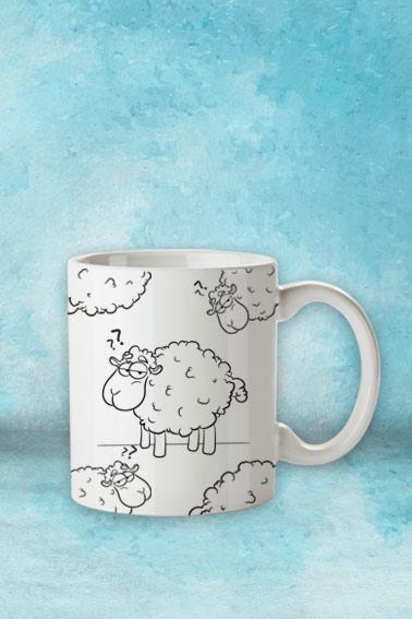 kubek z owcą